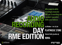 Audio Recording Day RME Edition