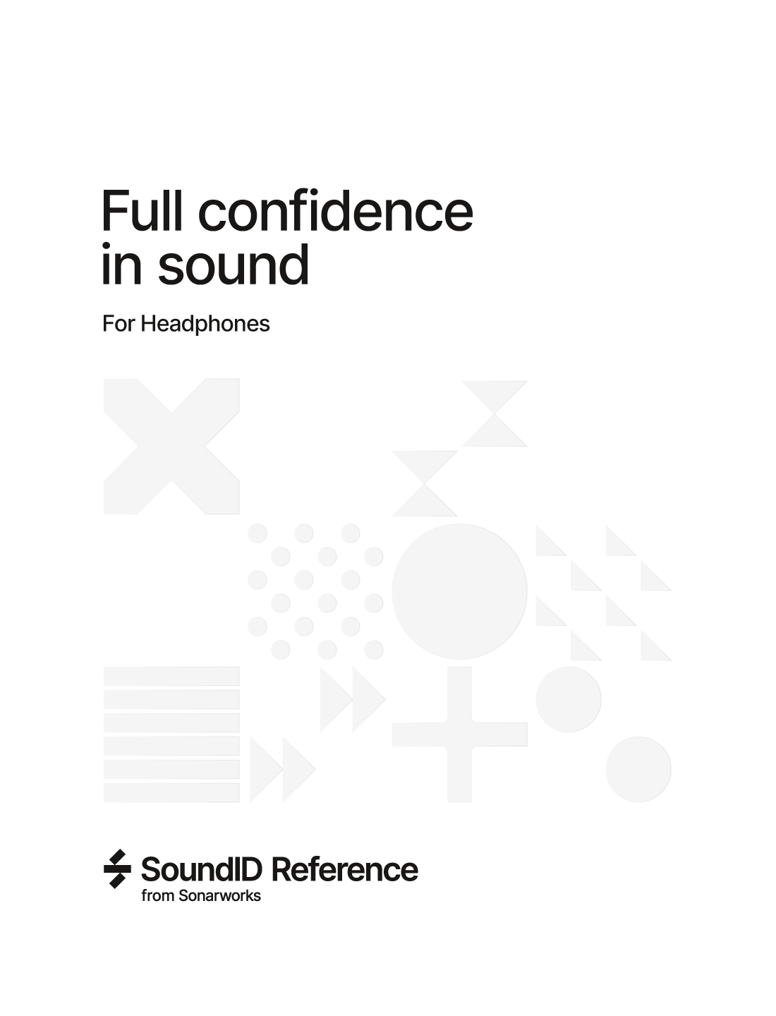 SONARWORKS SW5HB SOUNDID REFERENCE HEADPHONE - BOXED